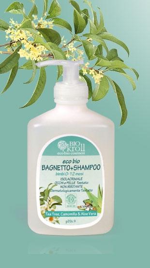 Eco Bio Bagnetto+shampoo bimbi 0-12 mesi